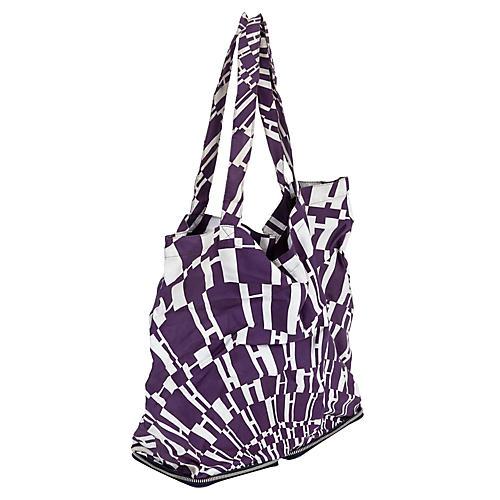 Hermès Black & Purple Silky Pop Bag