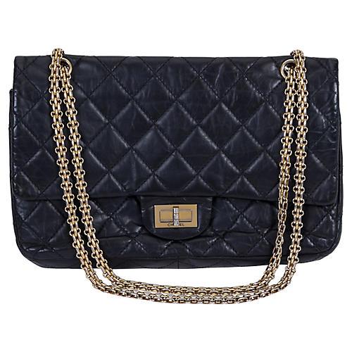 Chanel Reissue Black Gold Jumbo Flap Bag