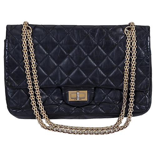 Chanel Reissue Black Gold Jumbo Flap Bag