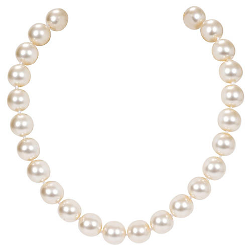 1980s Chanel Faux Mabe Pearl Choker