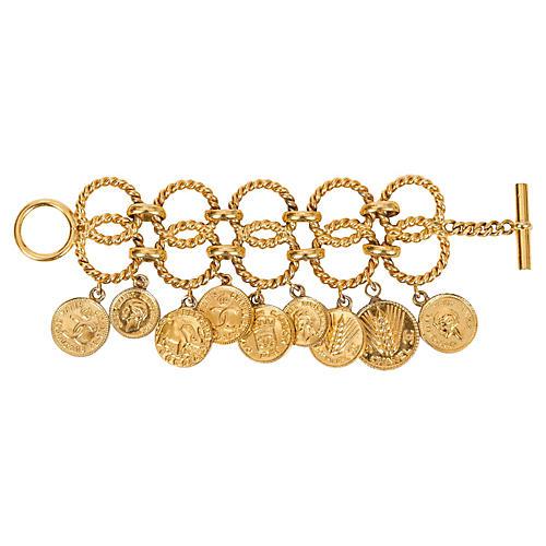 1980s Chanel Coin Bracelet
