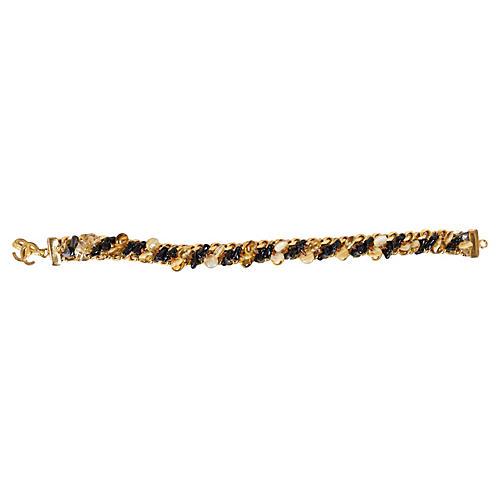 Chanel Glass & Gold Bracelet