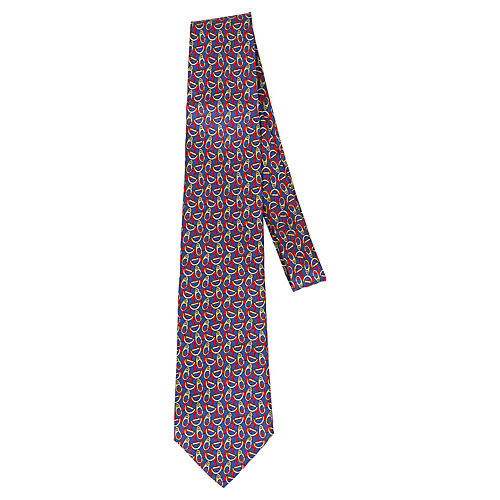 Gucci New Silk Horse Bit Tie