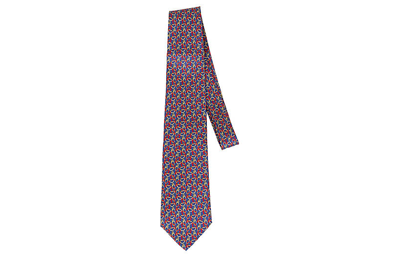 Gucci New Silk Horse Bit Tie