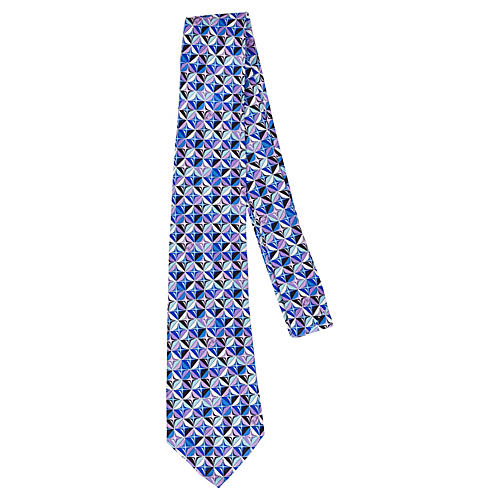 Emilio Pucci Silk Geometric Tie