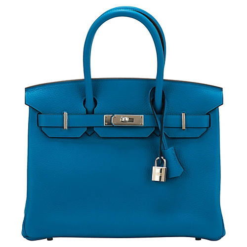 Hermès Blue Zanzibar Togo 30cm Birkin