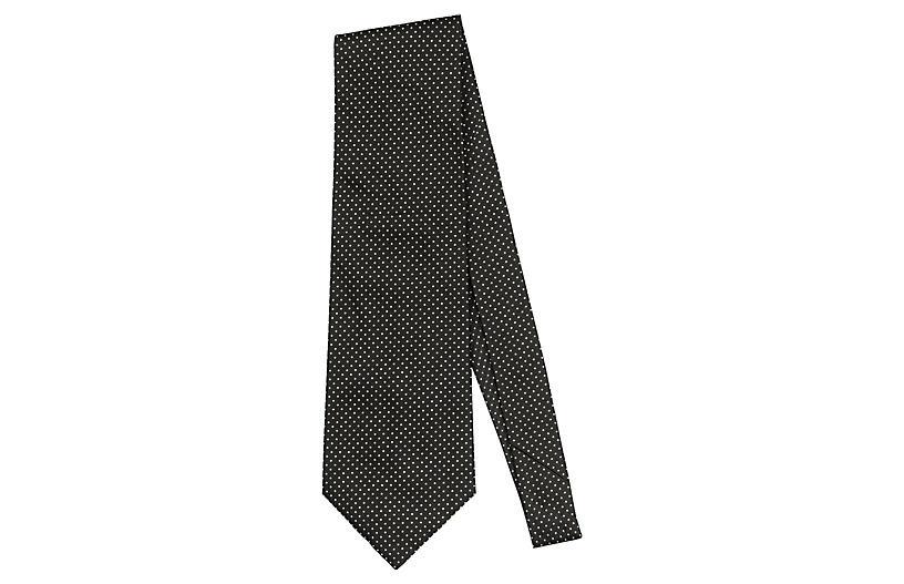 Blumarine Gray Dot Print Tie