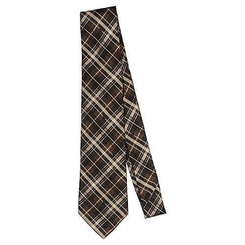 Louis Vuitton Brown Plaid Tie