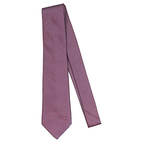 Louis Vuitton Berry Purple Print Tie