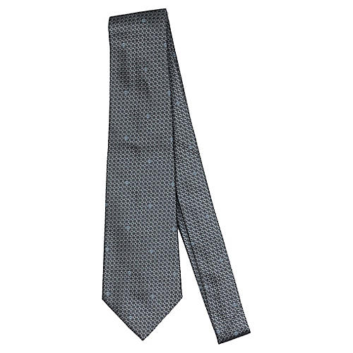 Chanel Gray Silk Tie