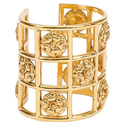 Chanel Camellia Cage Cuff Bracelet