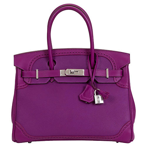 Hermès 30cm Anemone Ghillies Birkin