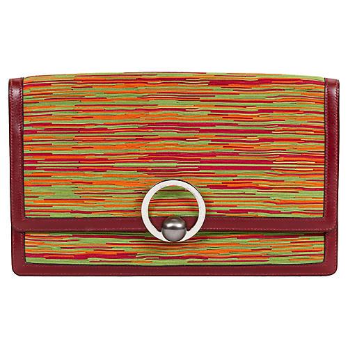 Hermès Vibrato Red Clutch