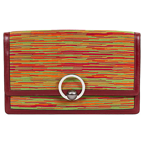 Hermès Vibrato Red Clutch