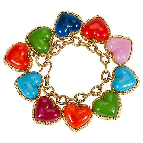 Chanel Gripoix Heart Bracelet
