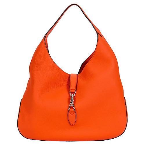 Gucci Jackie Vibrant Orange Hobo Bag