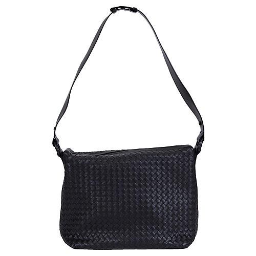 Bottega Veneta Black Intrecciato Handbag