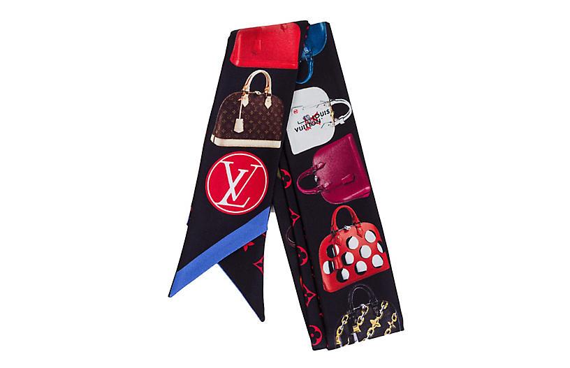 Louis Vuitton Alma Silk Twilly Scarf