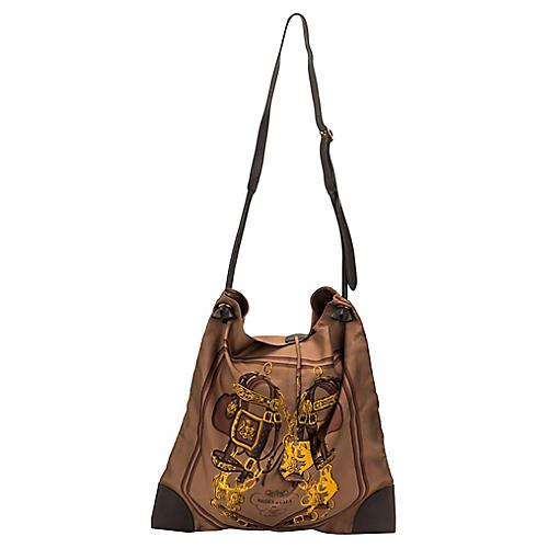 Hermès Brown Silk Brides de Gala Tote