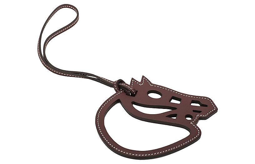 Hermès Brown Cheval Bag Charm