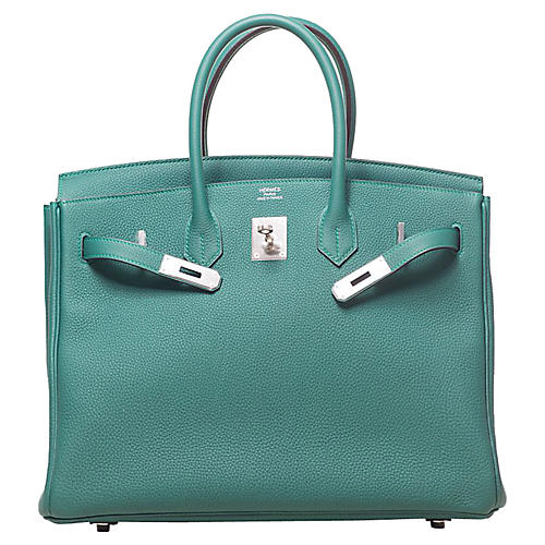 Hermès Malachite Togo 35cm Birkin