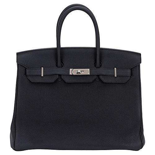 Hermès Verso Black/Blue 35cm Birkin