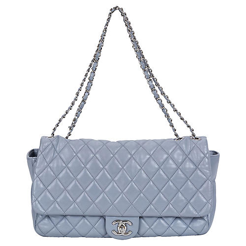 Chanel Maxi Gray Rain Jacket Flap Bag