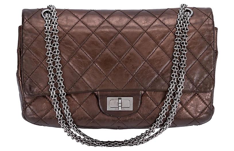 Chanel Metallic Bronze Jumbo Reissue Bag