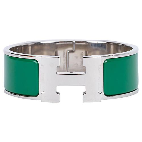 Hermès Vert Sapin H Bracelet