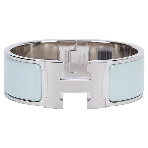 Hermès Vert Argile H Bracelet
