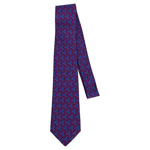 Hermès Berry Silk Twill Tie