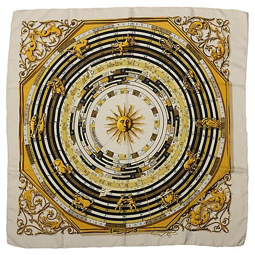 Hermès Astrologie Silk Print Scarf
