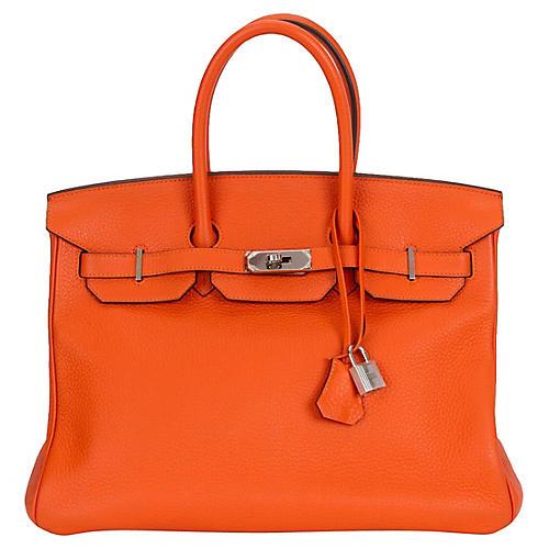 Hermès 35cm Feu Clemence Birkin