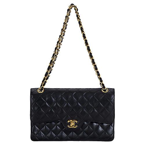 15c8dfc4b7e3 1990s Chanel Black Classic Double Flap. VINTAGEVintage Lux