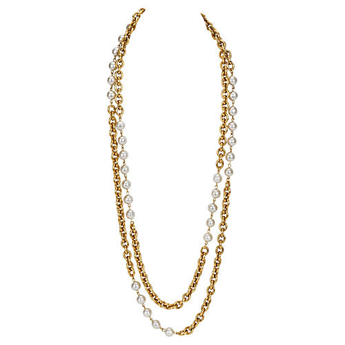 Chanel Double-Strand Faux-Pearl Necklace