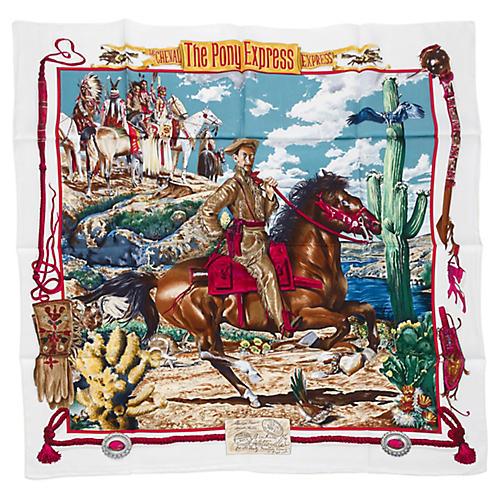 Hermès Pony Express Silk Twill Scarf