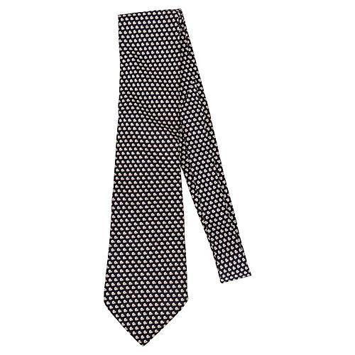 Hermès Black Silk Snail Tie