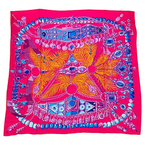 Hermès Parures Précieuses Silk Shawl