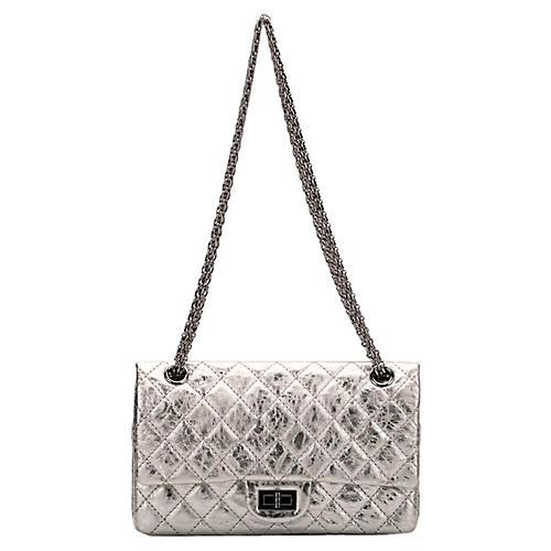Chanel Silver Medium Reissue Double Flap