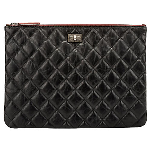 Chanel Black Reissue Leather Clutch