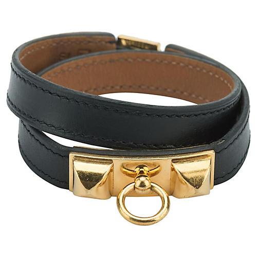 Hermès Black & Gold Double Bracelet