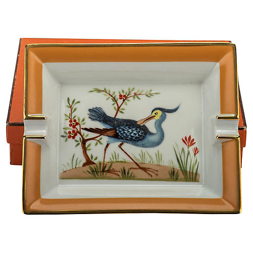 Hermès Blue Bird Porcelain Ashtray