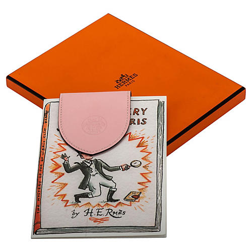 Hermès Ex-Libris Pink Leather Bookmark