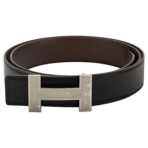 Hermès Reversible Black & Brown H Belt