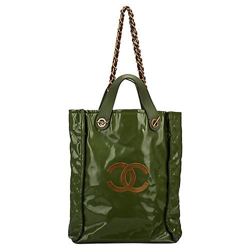 Chanel Lim. Ed Green PVC Harrods Handbag