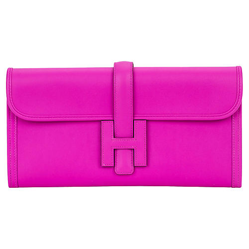 Hermès Magnolia Swift Jige Clutch