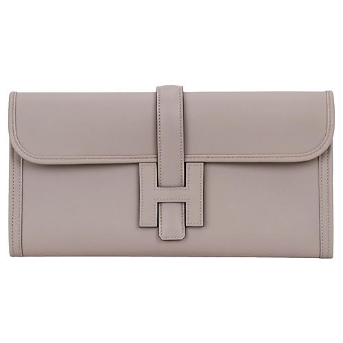 Hermès New Gris Asphalt Swift Jige Elan