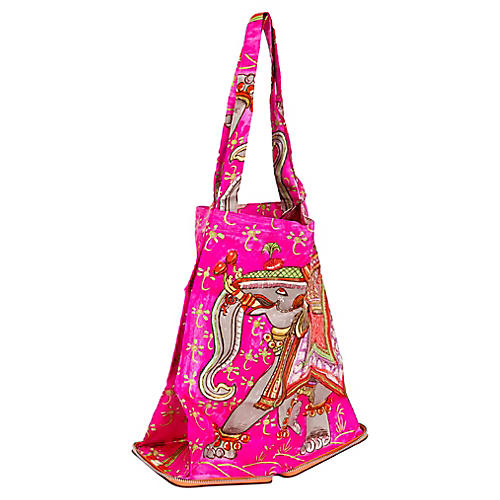 Hermès Orange & Hot Pink Silky Pop Bag