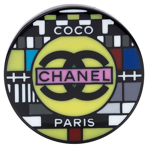 Chanel Lucite Television Brooch