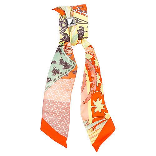 Hermès Orange & Vert Phoenix Twilly
